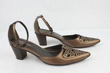 Zapatos De Salón Abiertos BOCAGE Paris Cuero Bronce T 37 EXCELENTE ESTADO