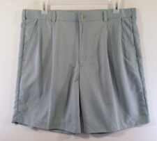 IZOD Mens Shorts Size 38 Green Golf Dress Casual Front Pleat Polyester Bermuda