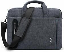 17.3 Laptop Bag Unisex Nylon Briefcase Multi Compartment Messenger Case Strap