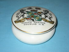 Goss Powder Bowl & Lid - Arms Of THE EARL OF HOME