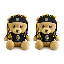 2pk Korimco 20cm AFL Sparkle Fanatic Bear Richmond Children Gift Stuffed Toy BRN