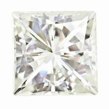1 Princess Cut Moissanite White Brilliant 6.5mm Diameter 1.40 tcw Loose Stone