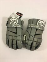 "Maverik Mx Lacrosse Player Gloves 10"" Small Gray Grey (Brand New)"