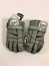 "Maverik Mx Lacrosse Player Gloves 10"" Small Gray Grey (Brand New)"