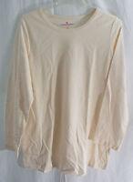 Women's Plus Size Crew / Scoop Neck Long Sleeve T-Shirt Tee in Ivory
