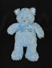 Peluche doudou ours bleu GUND BABY My First Teddy noeud satin 30 cm Etat NEUF