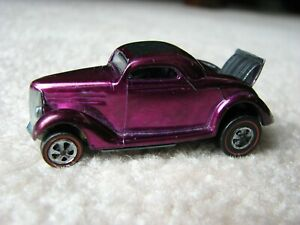 Vintage Hot Wheels Redline 1969 US Magenta Classic '36 FORD COUPE Mint