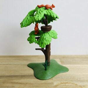 Playmobil Tree With Squirrels & Bird Nest Greenery Scenery For Zoo Park
