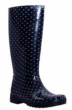 NEW WOMENS LADIES CALF FESTIVAL WELLIES WATERPROOF RAIN WELLINGTON BOOTS UK 3-9