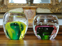 Windlicht Set Kristall Glas Stil Murano Teelicht Handgefertigt Kerzenhalter Edel