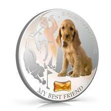 Fiji 2013 My Best Friend IV English Cocker Spaniel Dogs & Cats 1 Oz Silver Coin