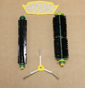 Bristle & Beater Brush + Filter & Side Brush for iRobot Roomba 500 600 Series