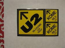 "Kome 98.5 Fm - Decal / Sticker Set -""U2"" - (4""x6"") - Limited Edition Rare!"