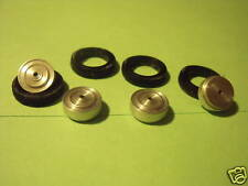 4  ROUES  FLASQUEES  ALUMINIUM   BUGATTI  TYPE 57  WHEELS  1/43  MADE  BY  VROOM