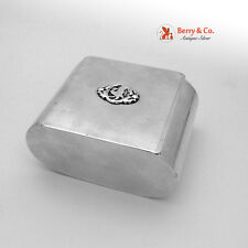 Bird Art Deco Dresser Box or Cigarette Case 1940 Sterling Silver