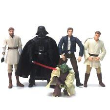 "Lot 5Pcs Star wars Master Han Solo Yoda Kenobi Obiwan Chewbacca 3.75"" Figure toy"
