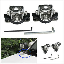 2 X Stainless Steel Car Off-Road A Pillar Hood Mount LED Light Bracket Clamp Kit