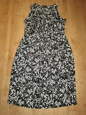 GEORGE STRETCH CENTRAL GATHERED WAIST DETAIL SMART DRESS, SIZE 12, EX CON