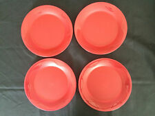 Tupperware Snack Plates Set of 4 in Sheer Red New