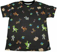 Disney Toy Story Buzz Lightyear Woody Rex All-Over T-Shirt Disneyland Movie Tee