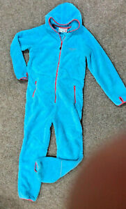Swedemount Blue Shaggy All In One/ One Piece, Size 10 (38) Layer 2, Turquoise