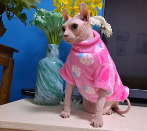 Hairless Cat Winter Warm Soft Velvet Pajamas Sphynx Double-Layer Clothes T-Shirt