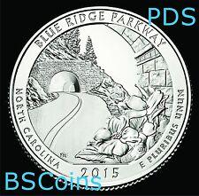 2015 P D S ATB Quarters - Blue Ridge Pkwy, NC - BU THREE Coins - Ship TODAY