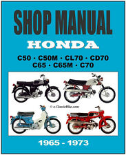 HONDA Workshop Manual S65 & C65M 1965 1966 1967 1966 1969 1970 1971 1972 & 1973