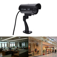 Quality Dummy Fake Outdoor Indoor Security Camera Night Blinking LED SILVER Nice