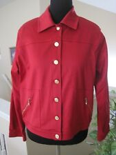 ST JOHN SPORT RED JACKET, SIZE SMALL