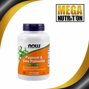 NOW Foods Pygeum & Saw Palmetto Mens Health - 120 Softgels   Prostate Function