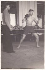 1950s RARE Boxer nude muscle man boy ring gay interest old Russian Soviet photo