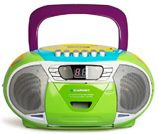 Blaupunkt CD Player tragbar Kinder Radio Kassetten Boombox Stereoanlage grün