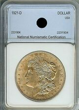 1921-D  MORGAN SILVER DOLLAR, NNC CERTIFIED/GRADED  MS65  COIN, WOW..Great TONES