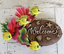 Fish Welcome Sign - Tropical Home Decor - Metal Handcrafted in Mexico