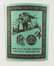 Poster Stamp - Society of Philatelic Americans California Collectors Club 1949