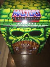 Eternia Minis Display Castle Grey Scull Box + 2 Figures He-Man Man At Arms MOTU