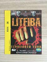 Litfiba - Terremoto Tour - Biglietto Ticket Concerto del 26.07.1993
