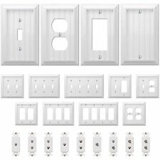 Country Cottage White Wood Wall Switch Plate Power Outlet GFI Covers Wallplates