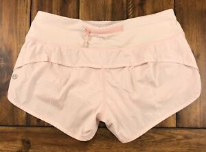 Lululemon Run Speed Up Shorts Blush Quartz Pink Shimmer Glitter Size 4 Rare