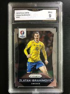 2016 Panini Prizm UEFA Zlatan Ibrahimovic #241 GMA 9 Mint SWEDEN GRADED