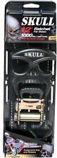 "2pk Skull Design Ratchet Strap Motorcycle, ATV, Tie Down 1-1/2"" X 12 Feet 1000lb"
