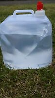 NEW 10 LITRE COLLAPSIBLE WATER CARRIER CONTAINER CAMPING STORAGE - HANDLE & TAP