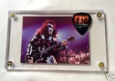 KISS Gene Simmons Alive #37 card / Sonic Boom tour Europe guitar pick display!!!