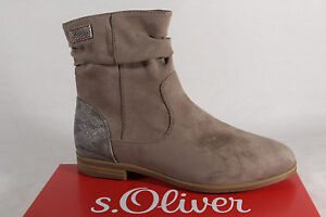 S.Oliver Women's Ankle Boots Beige Pepper 25357 New