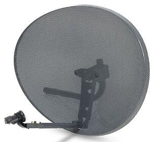 80cm Zone 2 Satellite Dish & MK4 Single LNB For Sky Freesat HD Polsat Hotbird
