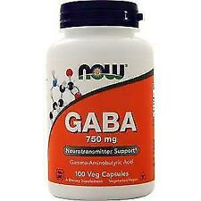 Amino Acids Now Foods Gaba 750mg 100 Vcaps