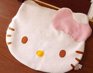 Large Big Head Hello Kitty Fuzzy Floor Cushion Mat Pad Bedroom Living room Rug