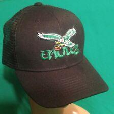 Philadelphia Eagles Hat OLD SCHOOL  Philadelphia Eagles Black Snapback Mesh Cap