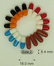 Simply Capsules - Empty Gelatine Coloured Capsules Size 2